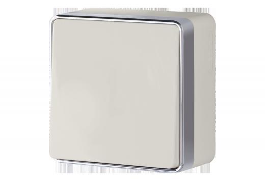 Выключатель одноклавишный WL15-01-01 слоновая кость