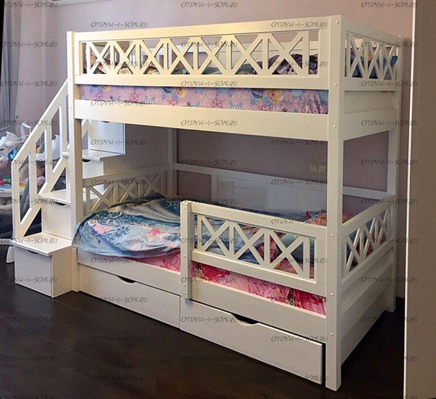 Кровать двухъярусная La Mer Массив №В3