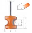 CMT 954.509.11 Фреза концевая радиусная Бычий нос/Катушка для создания красивых закруглённых торцов полок, ступеней и подоконников D44,5 I41,0 S12,0 R12,70