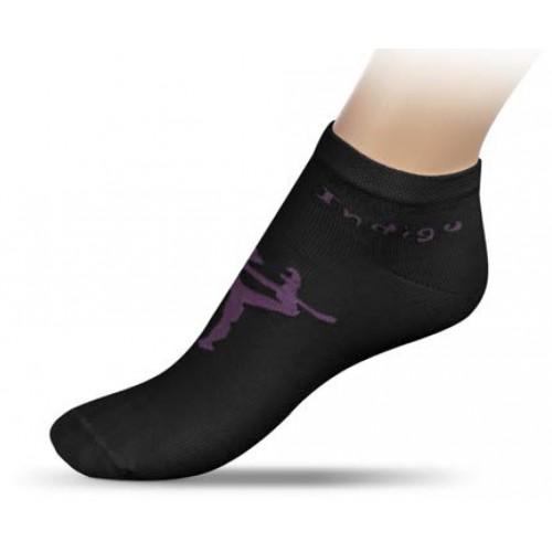 Носки для гимнастики с рисунком INDIGO А14-01 черные