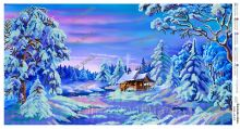 ЮМА-АП-010. Сказочная Зима. панно (набор 1625 рублей)