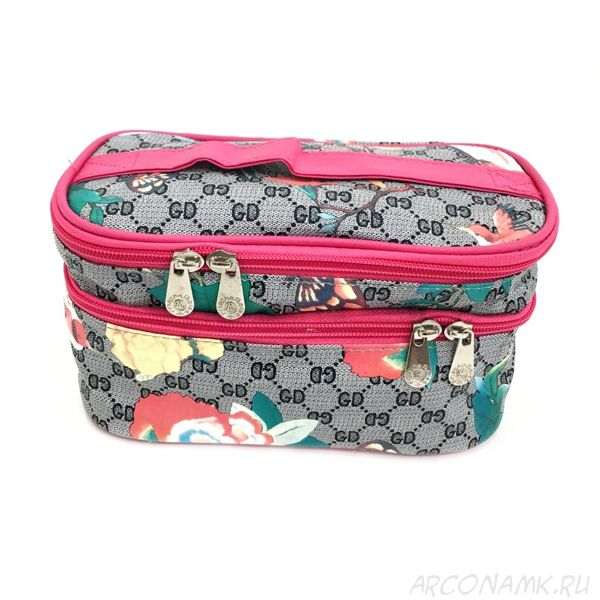 Органайзер-косметичка для путешествий Travel Cosmetic Bag, Серый/Колибри