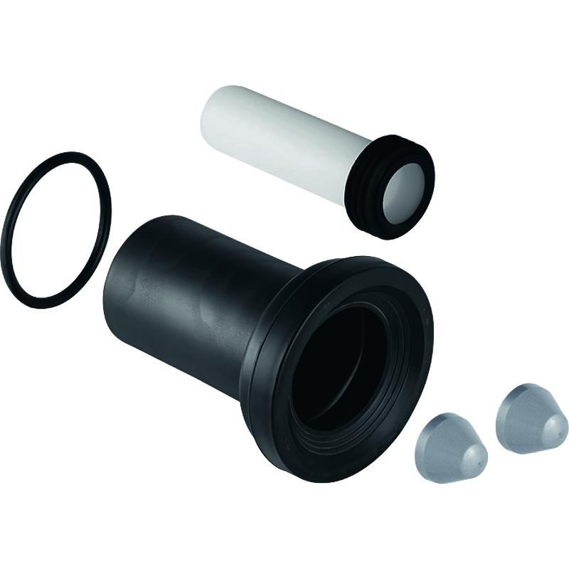 Комплект соединительный Geberit для подв. унитаза, L 18,5 см, d 90 мм, d1 45 мм, матовый хром