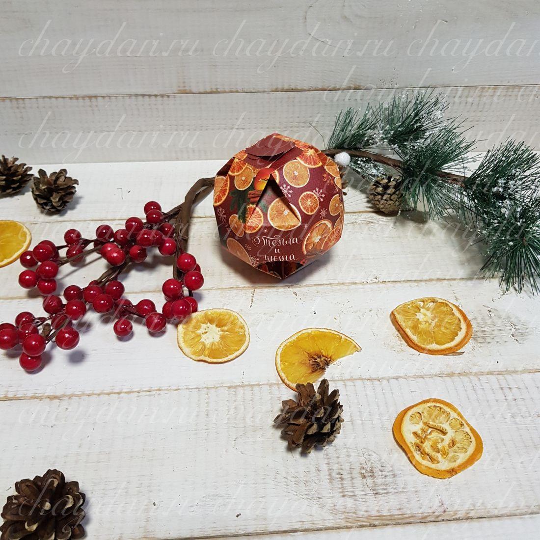 """Коробка со сладостями """"Новогодние мини-мандарины"""""""