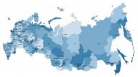 Карта России с морением и гравировкой