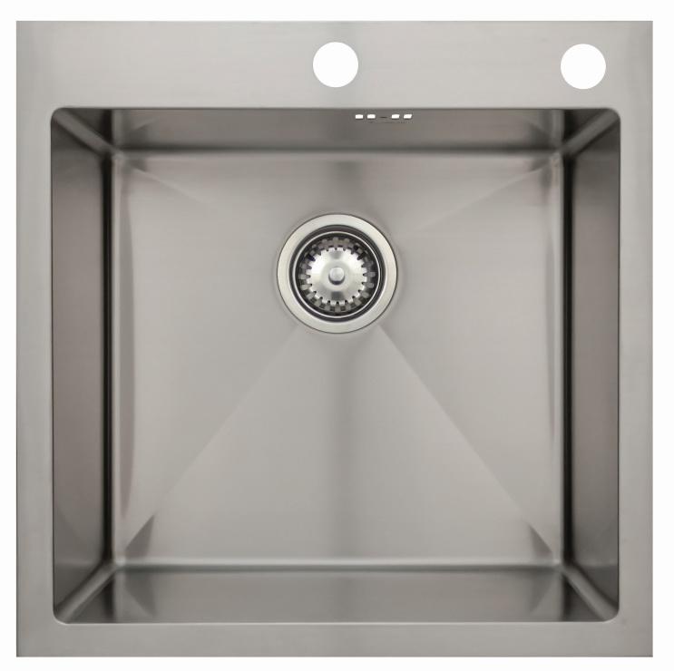 Врезная кухонная мойка Seaman ECO Marino SMB-5151S.B 51х51см нержавеющая сталь