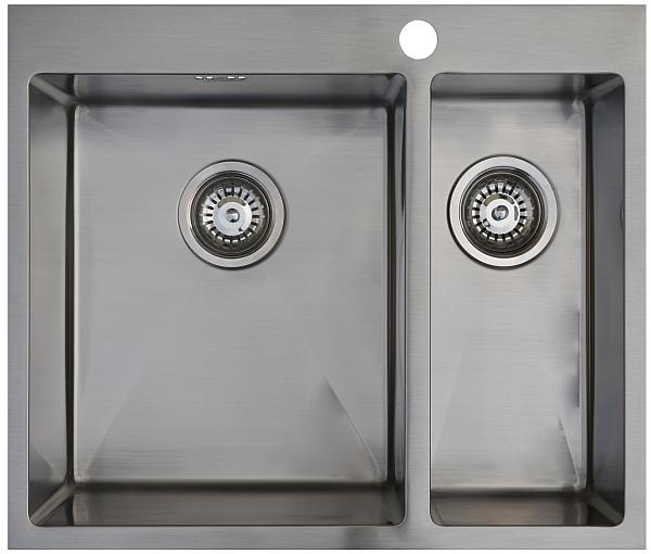 Врезная кухонная мойка Seaman ECO Marino SMB-6151DRS.A 61х51см нержавеющая сталь