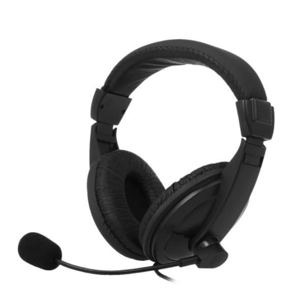 Наушники с шумоподавлением и вынесенным микрофоном на гибкой душке 2-Pin черные