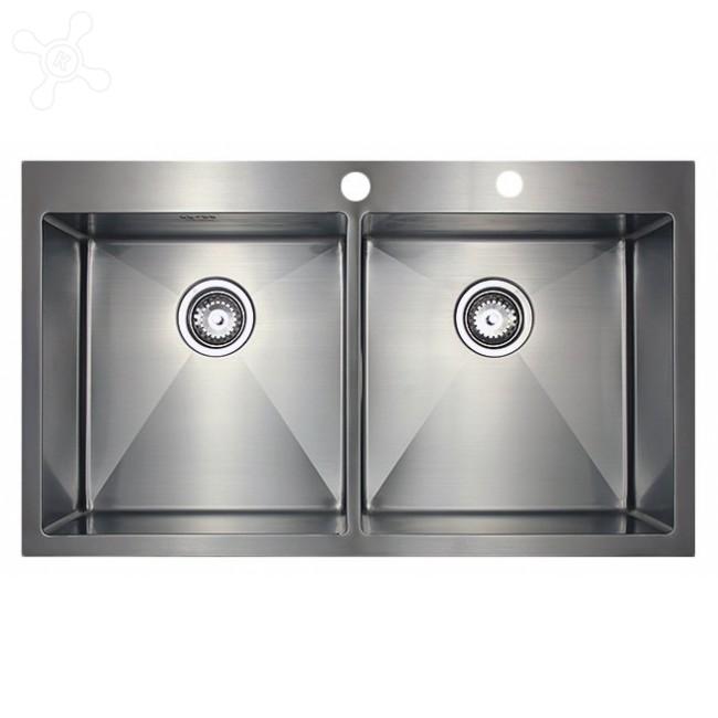 Врезная кухонная мойка Seaman ECO Marino SMB-8851DS.B 88х51см нержавеющая сталь