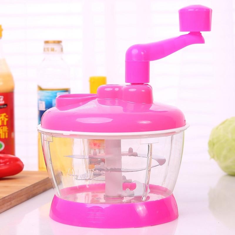 Универсальная Механическая Овощерезка Multi- functional Food Cooking Machine, Цвет Розовый