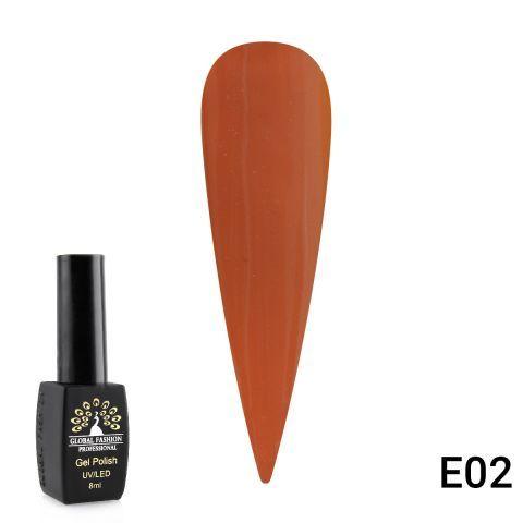 Гель лак Global Fashion 8 мл серия E, Lime Canary E02