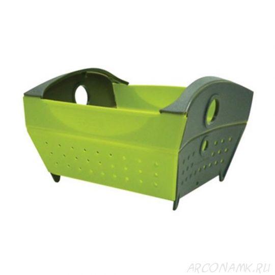 Складной дуршлаг Snapfold Colander, Цвет: Зелёный