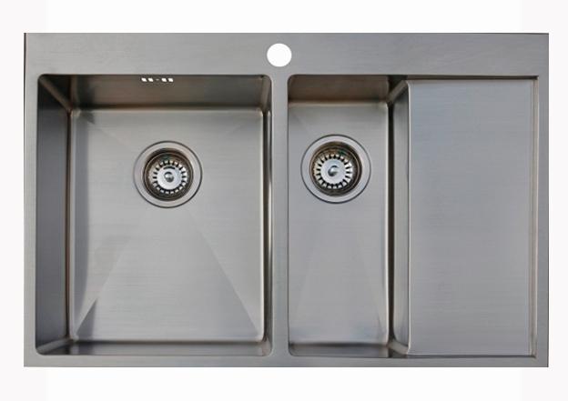 Врезная кухонная мойка Seaman ECO Marino SMB-7851DRS.A 78х51см нержавеющая сталь