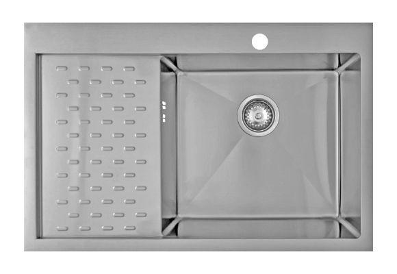 Врезная кухонная мойка Seaman ECO Marino SMB-7851PLS.B 78х51см нержавеющая сталь
