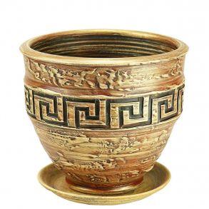 горшок рельеф меандр 1 песок 5-13 (81-113)