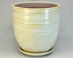 горшок эко 2 (бел/зол) 28см 4-06 (30-206)
