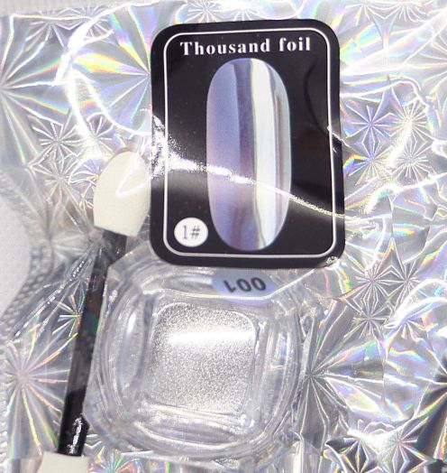 Втирка металлическая Глобал Фэшн thousand foil серебро