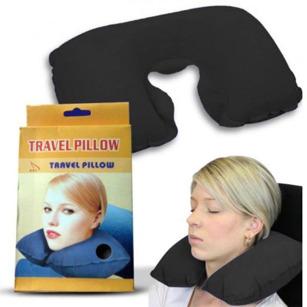 Подушка для путешествий Travel Pillow (Тревел Пиллоу), Цвет: Чёрный