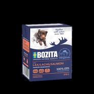 BOZITA Tetra Pac Naturals Влажный корм для собак, кусочки в желе с лососем. 370гр.
