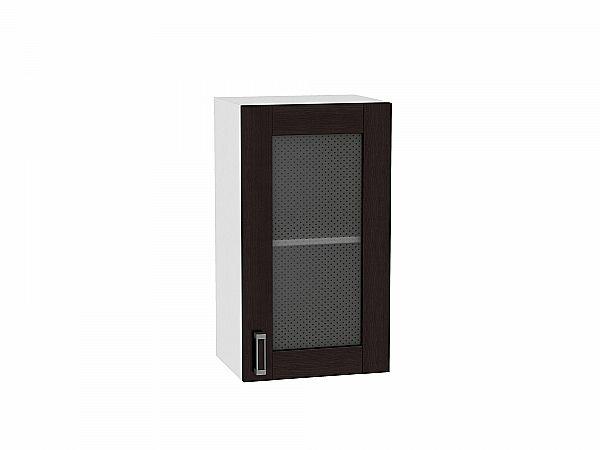 Шкаф верхний Лофт В400 со стеклом (Wenge Veralinga)