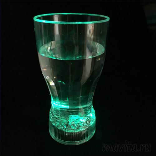 Мерцающий стакан для коктейлей Fancy Light Glass, 1 шт
