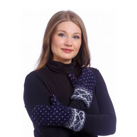 Варежки женские вязаные из Исландской шерсти 08401-02