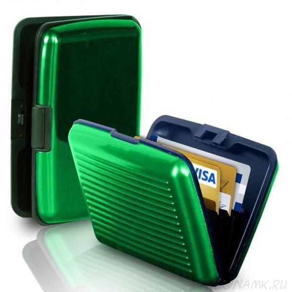 Кейс для кредитных карт Security Credit Card Wallet, Зеленый