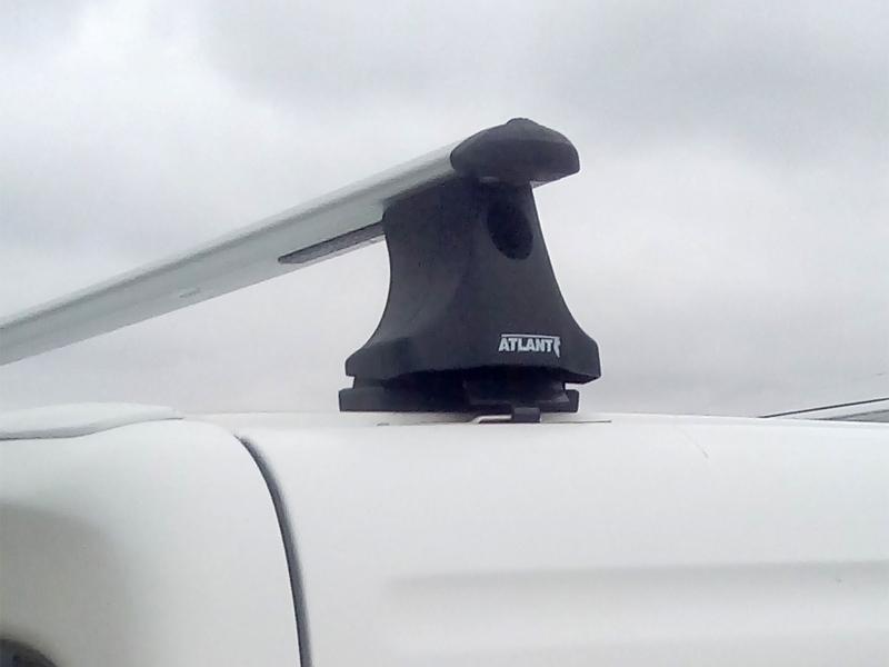 Багажник на крышу Peugeot Partner 1997-2008, Атлант, крыловидные аэродуги