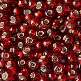 Бисер чешский 97120 прозрачный темно-бордовый серебряная линия внутри Preciosa 1 сорт