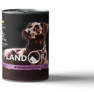 LANDOR Adult Dog Lamb and Turkey  Консерва для собак с ягненком и индейкой, 400г