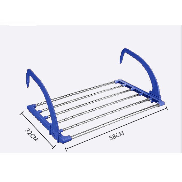 Многофункциональная Навесная Сушилка Для Белья Storage Skeleton Hanger, Цвет Синий