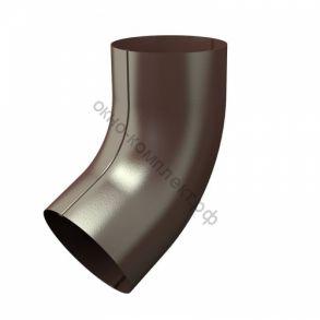 Колено трубы 60 гр (Ral 8017 коричневый, Ral 9003 белый )