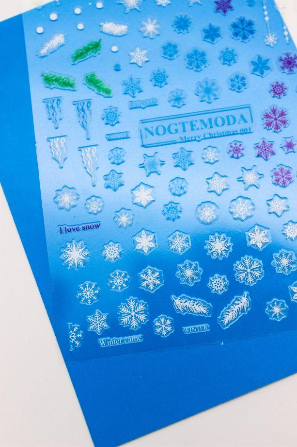 Стикер Nogtemoda 001 (Коллекция Зима)