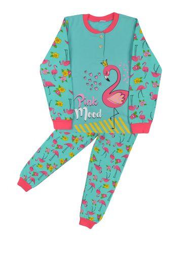 Теплая пижама для девочки 7-10 лет Bonito BN957Д ментол