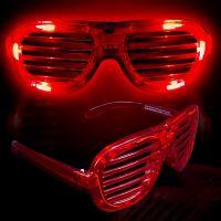 Светодиодные Светящиеся Очки Led El, Цвет Красный (3)