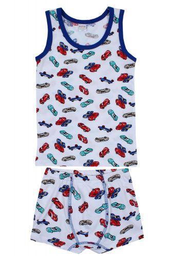 """Комплект белья для мальчика Bonito kids 7-11 лет """"Cars"""" белый"""