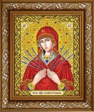 ИС-4039 Славяночка. Пресвятая Богородица Семистрельная в золоте. А4 (набор 825 рублей)