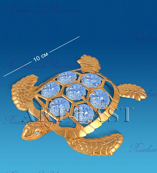 "Статуэтка морская черепаха с камнями ""Swarovski"""