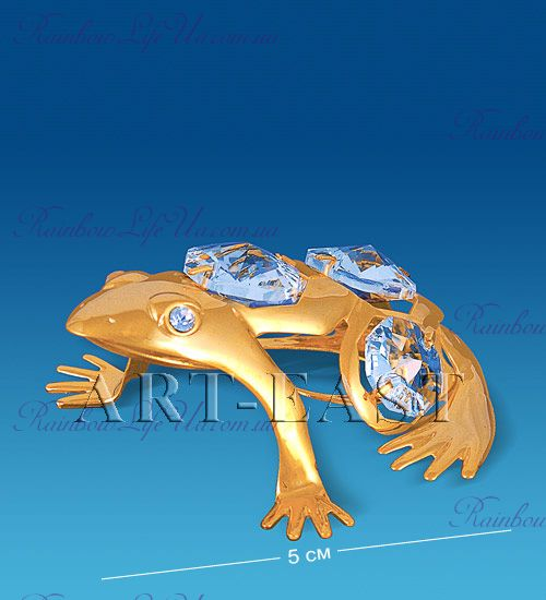"Статуэтка лягушка с камнями ""Swarovski"""