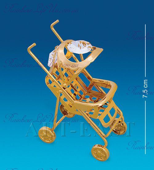 """Статуэтка детская коляска с камнями """"Swarovski"""""""