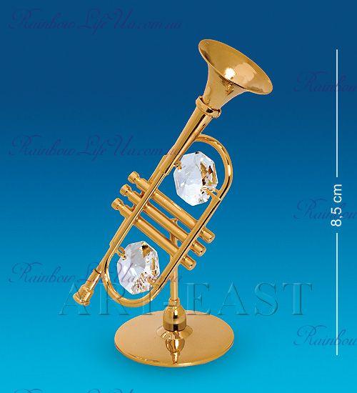 "Фигурка труба с камнями ""Swarovski"""