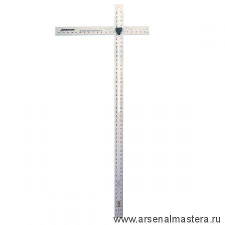 Дюймовый регулируемый разметочный угольник для листовых материалов 48 дюймов Swanson 48 Drywall Square Алюминий AD124