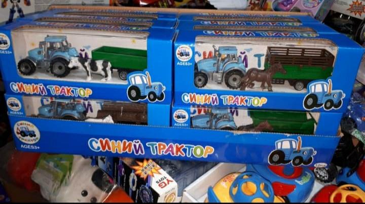 Синий трактор поменьше в ассортименте