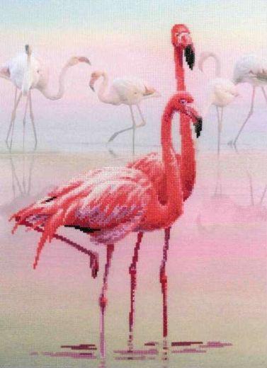 Набор для вышивания крестом Фламинго РТ 0012 фирма Риолис