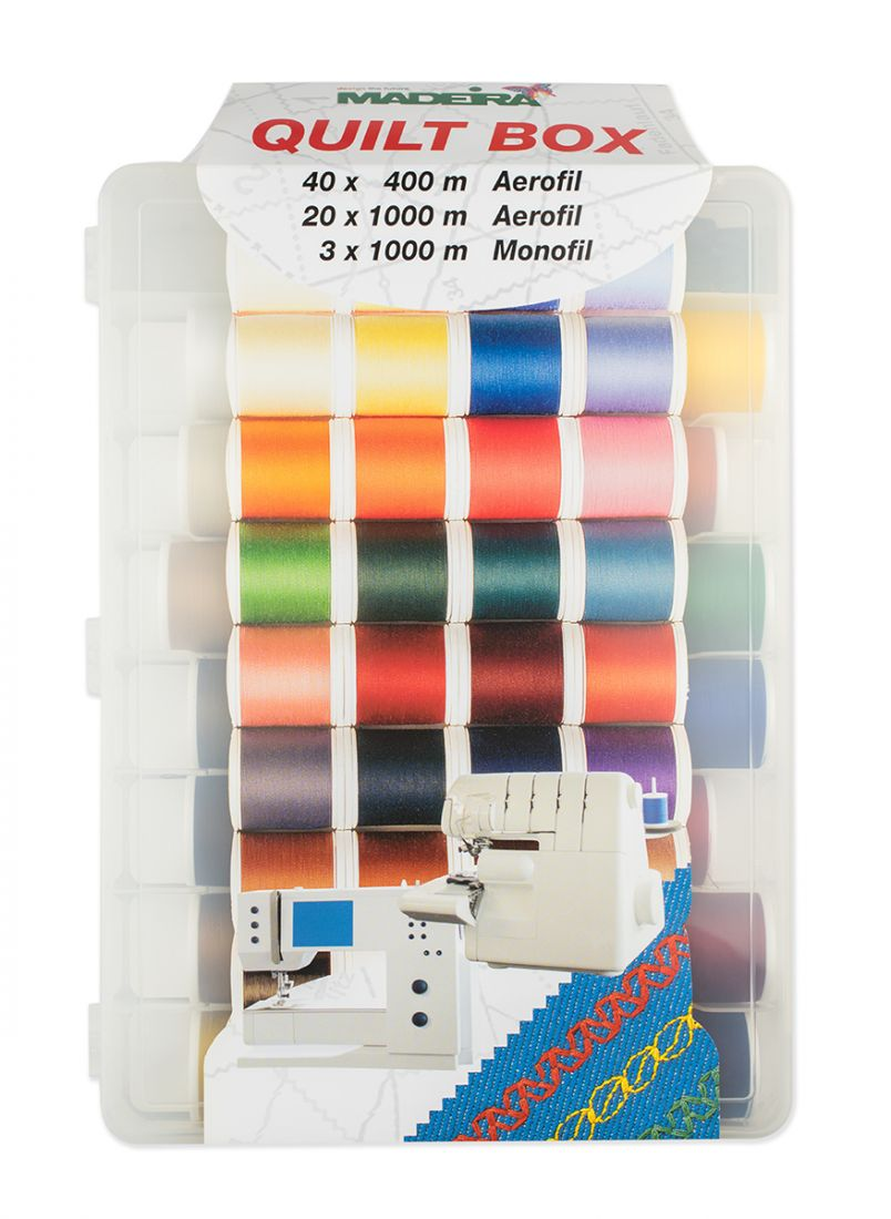 Набор швейных ниток Madeira Aerofil №120 арт.8062 Monofil 40/60 (20шт*1000м, 40шт*400м, 3шт*1000м)