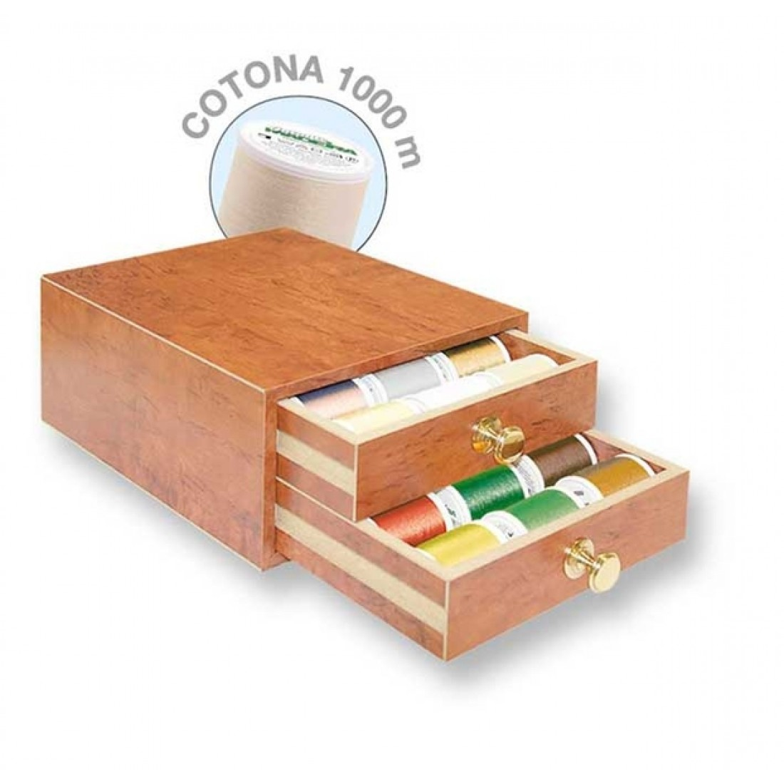 Набор Madeira Cotona №50 в шкатулке (30х1000 м) арт. 8117