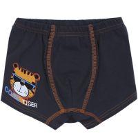 """Трусы-боксеры для мальчика Bonito kids 3-7 лет """"Cool Tiger"""" темно-серые"""