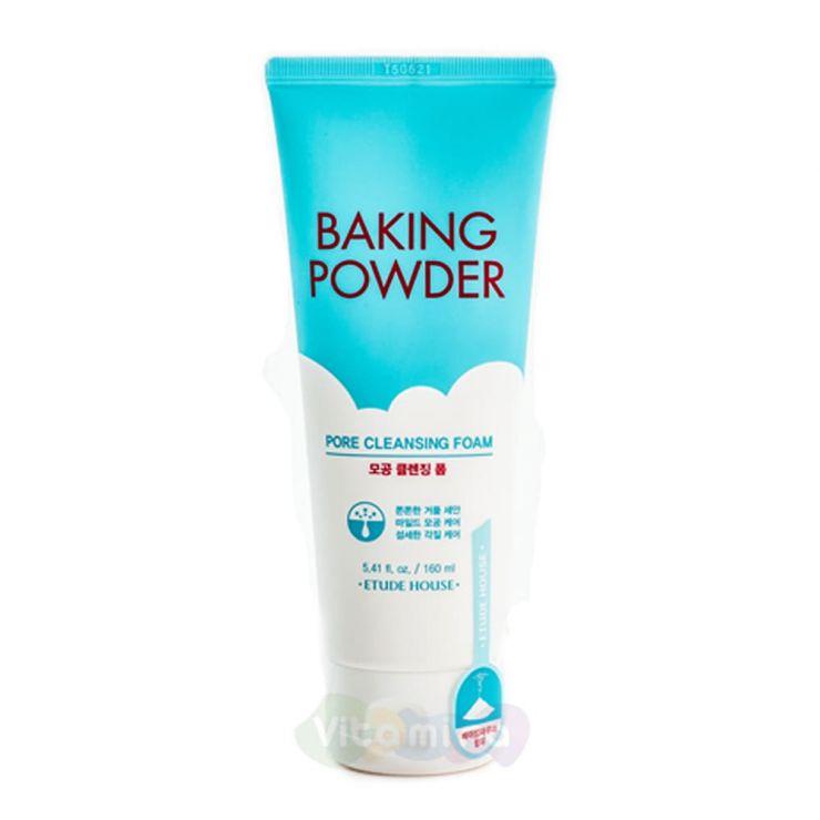 Etude House Очищающая пенка Baking Powder Pore Cleansing Foam, 160 мл