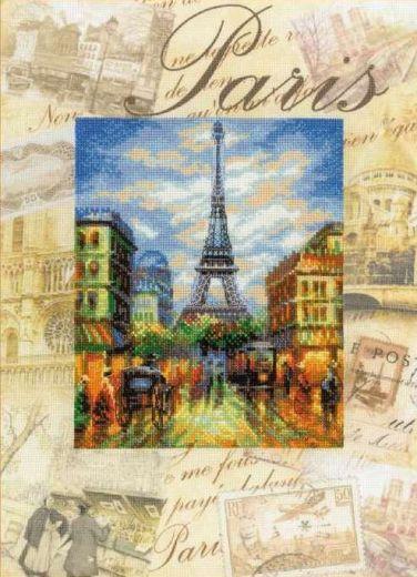 Набор для вышивания крестом Города мира. Париж РТ 0018 фирма Риолис