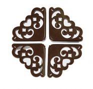 Накладки защитные на углы коричневые, 4шт